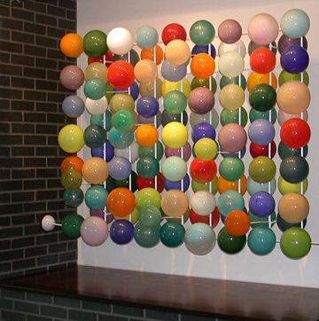 Glass ball installation